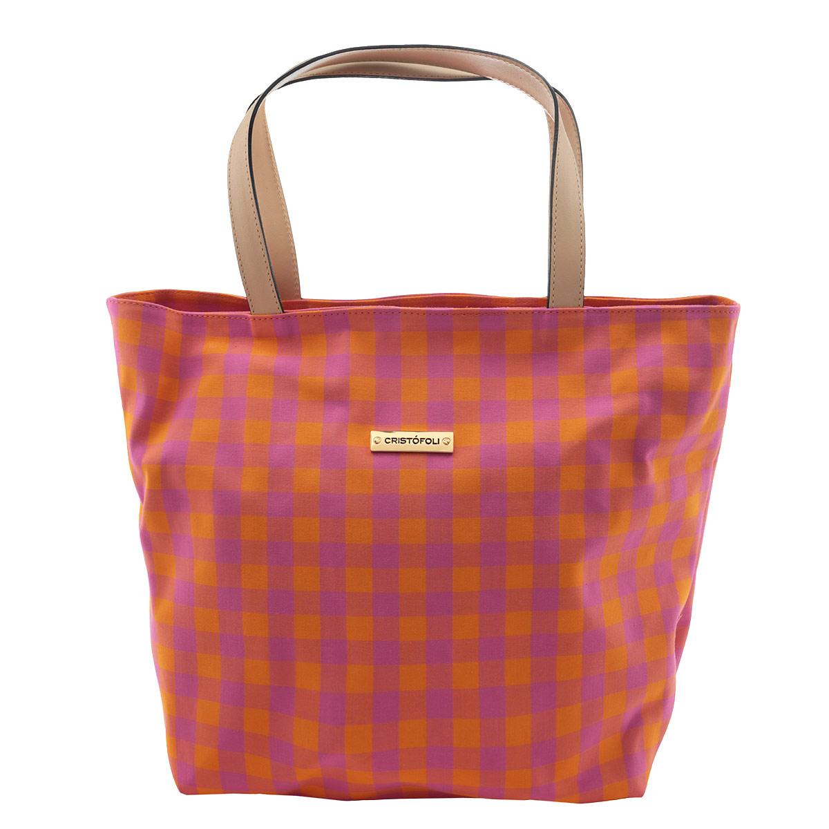 Сумка женская Cristofoli, цвет: оранжевый, розовый. 215001215001_оранжевыйИзысканная женская сумка Cristofoli выполнена из высококачественного текстиля. Сумка закрывается на металлическую застежку-молнию. Внутри - большое отделение и открытый накладной карман для мелочей. Эта оригинальная сумка внесет элегантные нотки в ваш образ и подчеркнет ваше отменное чувство стиля.
