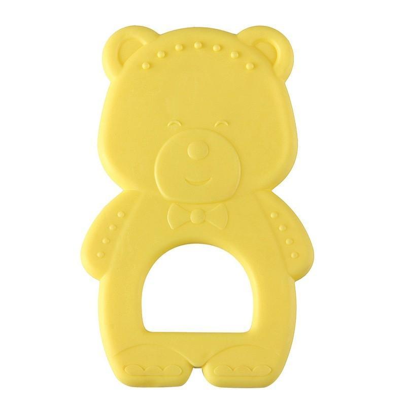 Прорезыватель Happy Baby Мишка, цвет: желтый