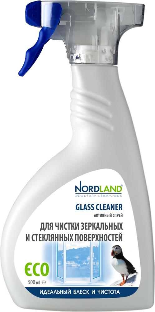 Активный спрей Nordland для чистки зеркальных и стеклянных поверхностей, 500 мл391329Средство Nordland эффективно и бережно очищает и придает кристальную прозрачность любым зеркальным и стеклянным поверхностям: оконным стеклам, стеклянным столам, кафельной плитке. Средство без усилий удаляет жирные пятна, следы от пальцев, пыль, известковый налет, следы от зубной пасты и другие загрязнения. Имеет легкий и свежий аромат. Средство производится на основе натуральных компонентов и не содержит агрессивных химических веществ.