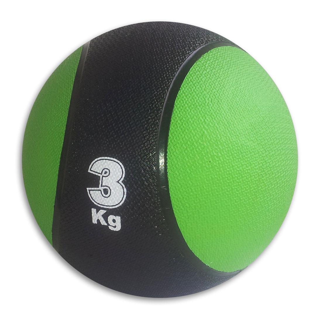 Медицинбол Start Up MBR3, цвет: черный, зеленый, 3 кг, 22 см290260Медицинбол Start Up MBR3 - тренировочный мяч, который прекрасно подходит для занятий фитнесом, аэробикой или ЛФК (лечебной физкультурой). Шероховатая поверхность не дает ему выскользнуть из рук. Предназначен для укрепления мышц плечевого пояса, спины, рук и ног. Мяч выполнен из резины, наполнен также резиной.