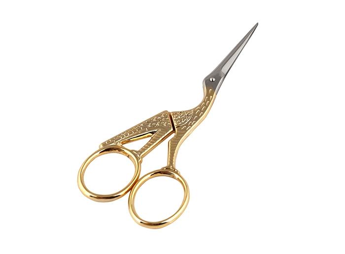 Ножницы вышивальные Premax Цапельки, цвет: золотистый, длина 11,5 смPremax F 7125D (4,5) ножницыВышивальные ножницы Premax Цапельки изготовлены из нержавеющей стали в форме цапли. Ножницы предназначены для обрезания ниток, выполнения подсечек и прочих мелких работ. Ножницы имеют удобные ручки с золотистым покрытием. Длина ножниц: 11,5 см. Длина лезвия: 3 см.