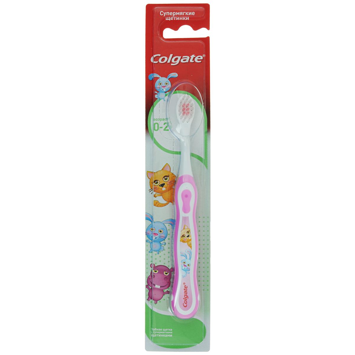 Colgate Зубная щетка детcкая Smiles, от 0 до 2 лет, супермягкая, цвет: розовый, белыйFCN20584_розовый, белыйДетская зубная щетка Colgate Smiles идеально подходит для развития навыков гигиены полости рта. Супермягкие щетинки с закругленными щетинками для детей с первого зуба до 2 лет. Благодаря яркому, привлекательному дизайну зубной щетки ежедневная чистка зубов станет удовольствием для вашего ребенка. Специально разработанная нескользящая ручка удобно располагается в деткой ладошке. Товар сертифицирован.