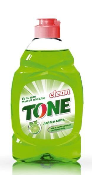 Гель для мытья посуды Clean Tone Лайм и мята, 450 мл1852Гель Clean Tone Лайм и мята предназначен для мытья всех видов посуды. Преимущества геля Clean Tone: - эффективно удаляет жир в горячей и холодной воде - отлично пенится и легко смывается водой, не оставляя разводов - не раздражает кожу рук - имеет приятный аромат лайма и мяты. Объем: 450 мл. Состав: 30% и более - вода питьевая очищенная; 5% или более, но менее 15% - анионные ПАВ; менее 5% - хлорид натрия, неионогенные ПАВ, отдушка, консервант, лимонная кислота, комплексообразователь, краситель Е102, Е133.