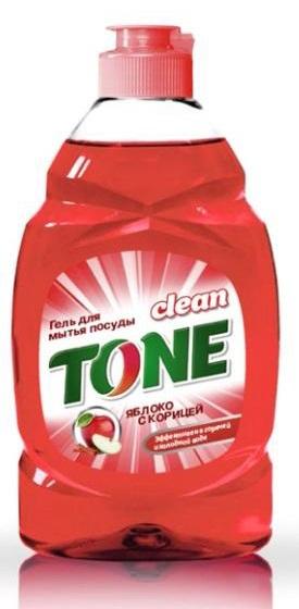 Гель для мытья посуды Clean Tone Яблоко с корицей, 450 мл1856Гель Clean Tone Яблоко с корицей предназначен для мытья всех видов посуды. Преимущества геля Clean Tone: - эффективно удаляет жир в горячей и холодной воде - отлично пенится и легко смывается водой, не оставляя разводов - не раздражает кожу рук - имеет пряный аромат яблока с корицей. Объем: 450 мл. Состав: 30% и более - вода питьевая очищенная; 5% или более, но менее 15% - анионные ПАВ; менее 5% - хлорид натрия, неионогенные ПАВ, отдушка, консервант, лимонная кислота, комплексообразователь, краситель Е 124.