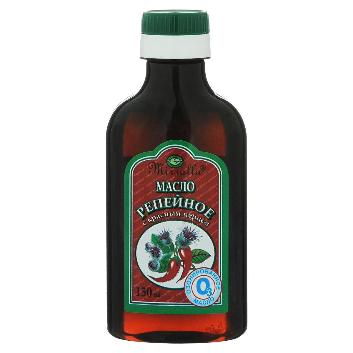 Мирролла Репейное масло с красным перцем, озонированное, 150 мл