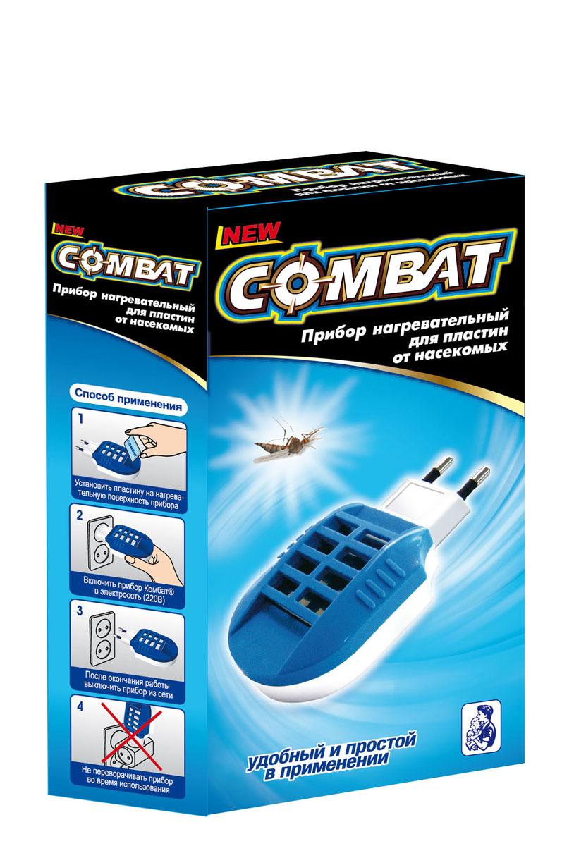 Фумигатор для пластин от комаров Combat, цвет: синий9524Фумигатор для пластин Combat удобен и прост в применении. Компактный, работает от сети 220В. Прибор с пластиной начинает действовать через 5-10 минут после включения, полное уничтожение насекомых достигается через 1 час. Прибор безопасен для всей семьи. Размер прибора: 11 см х 5,5 см х 2,5 см.