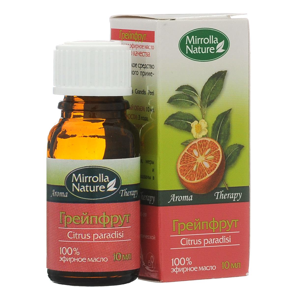 Мирролла Масло грейпфрута, 10 мл4650001790149Замедляет процесс образования морщинок, повышает упругость кожи, обладает отбеливающим эффектом; предупреждает появление растяжек кожи (стрий). Аромат нежной, холодной, горьковатой свежести.