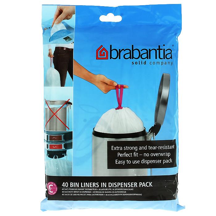 Пакеты для мусора Brabantia, 10-12 л, 40 шт. 361982361982-BRОдноразовые пакеты Brabantia, выполненные из пластика, предназначены для мусорного бака. Предотвращают загрязнение бака, удобны в использовании и имеют затягивающиеся ручки, которые позволяют затянуть пакет и завязать его. Пакеты имеют универсальный размер и подходят для баков различных объемов (от 10 л до 12 л). Особенности: Простая и удобная в использовании плоская упаковка-дозатор с большим отверстием. Легко вытащить новый мешок, так как они не связаны друг с другом, как в рулонах. Затяжная лента позволяет быстро и легко сменить пакет для мусора: просто потяните за ленту, она аккуратно запечатает горловину мешка и превратится в крепкие ручки. Объем мешка: 10-12 л. Количество в упаковке: 40 шт. Размер мешка: 30,6 см х 23 см.