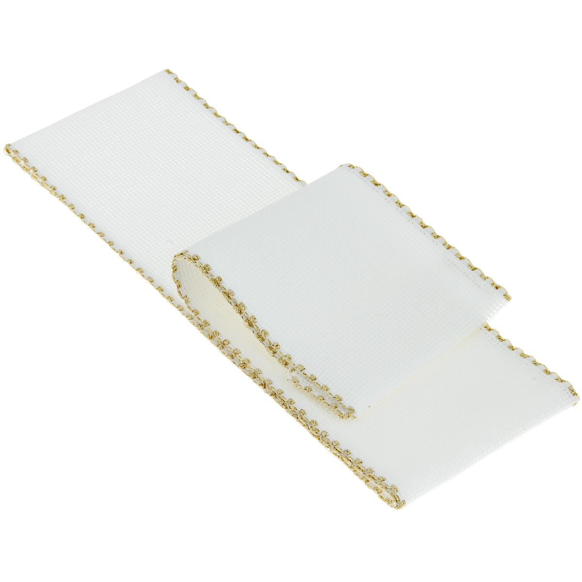 Основа для вышивания крестом или гладью Vaupel & Heilenbeck Aida 16, цвет: белый, 8 см х 100 см. 510-080-90510-080-90Основа Vaupel & Heilenbeck Aida 16 представляет собой канву для вышивания крестом или гладью, выполненную из 100% хлопка. Канву также можно использовать для других видов счетной вышивки. Изделие оформлено позолоченной каймой. Вышитые работы используются в качестве украшения-бордюра для одежды, полотенец, наволочек, штор и прочих предметов интерьера. Канва, украшенная своими руками, дополнит интерьер любого помещения, а также сможет стать изысканным подарком для ваших друзей и близких. Выдерживает стирку при температуре 40°С.