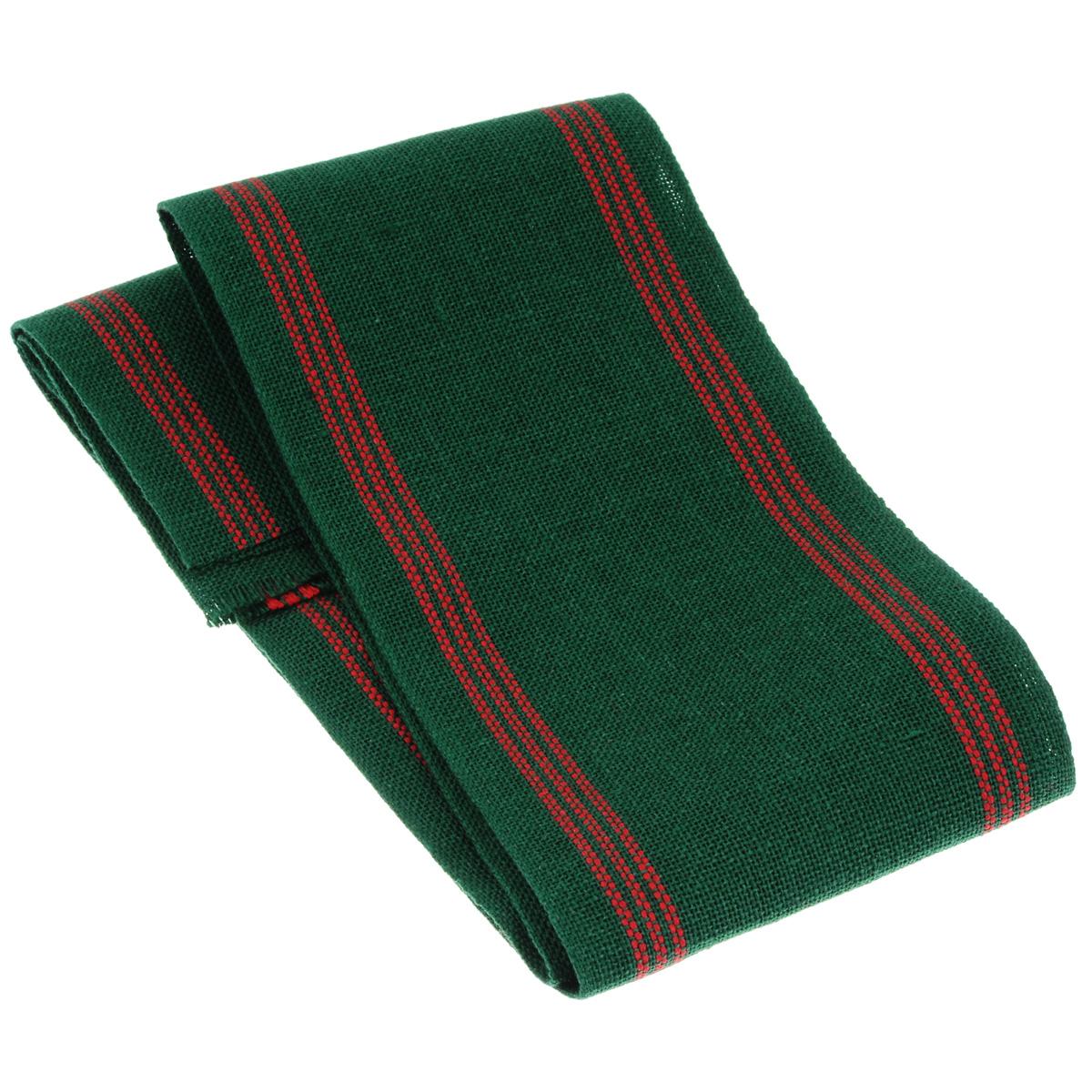 Основа для вышивания крестом или гладью Vaupel & Heilenbeck Лента-труба, цвет: зеленый, красный, 10 см х 100 см2090-200-208Основа для вышивания крестом или гладью Vaupel & Heilenbeck Лента-труба представляет собой 11-ти ниточную ленту, изготовленную из 100% льна. Изделие выполнено в виде бесшовного рукава и декорировано полосками. Такая лента идеальна для изготовления мешочков под сухоцветы, для мыла, сувениров. Воплотите свои идеи на этой основе для вышивания! Лента, украшенная своими руками, дополнит интерьер любого помещения, а также сможет стать изысканным подарком для ваших друзей и близких. Общая ширина основы: 20 см.