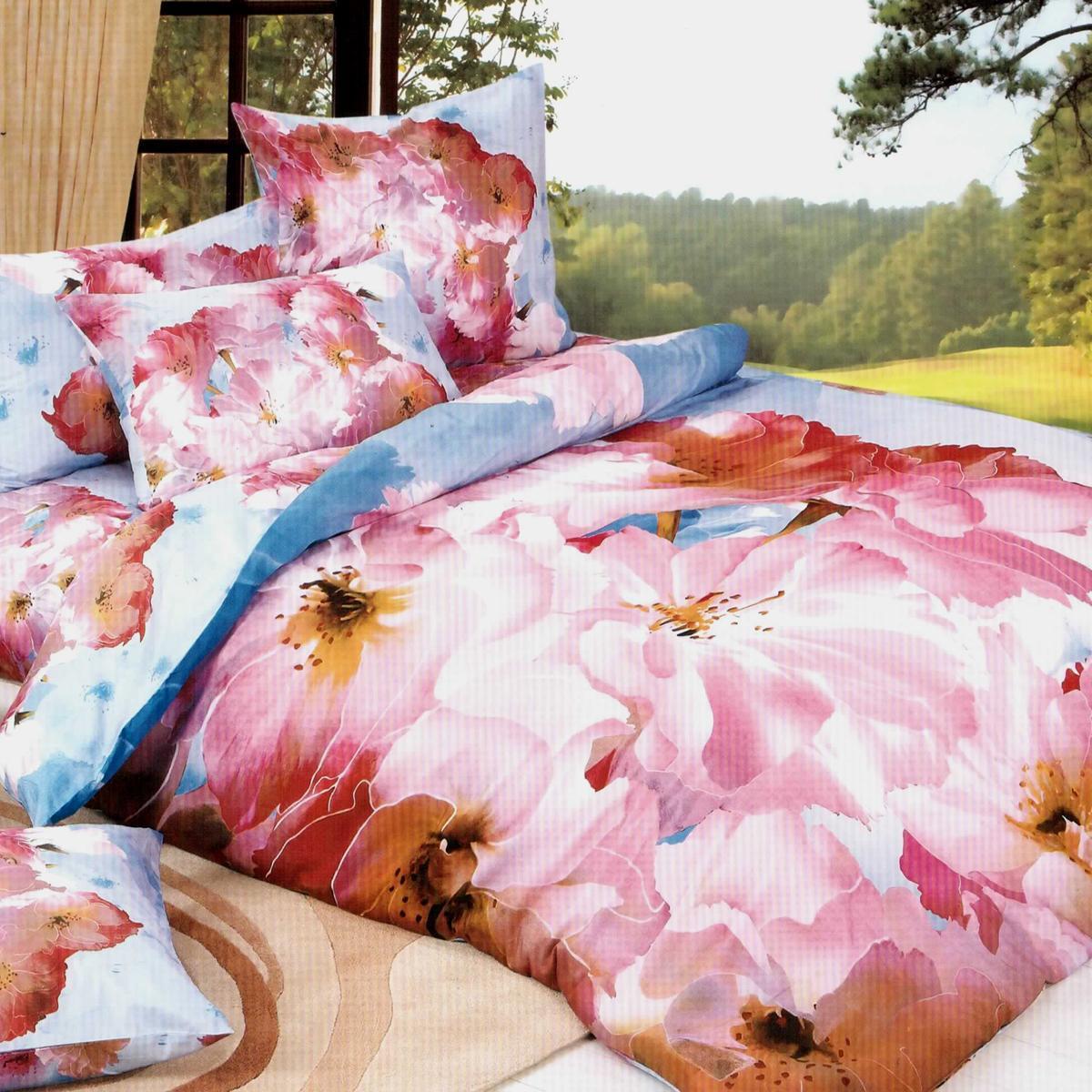 Комплект белья Letto Аура Элит 3D, 1,5-спальный, наволочки 70х70, цвет: розовый. А-09-3