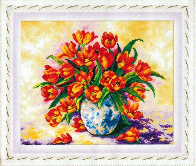 Набор для создания мозаики Cristal Красные тюльпаны, 50 х 40 см7707829Создайте свой рукотворный шедевр с помощью набора для создания мозаики Cristal Красные тюльпаны. Полотно-схема покрыто высококачественным клеевым слоем, на которое с помощью пинцета размещаются маленькие искусственные плоские камушки на рисунок. Камушки выполнены из пластика, устойчивого к воздействию солнечных лучей. Камушек за камушком и канва будет закрываться блестящим панцирем. В наборе для создания мозаики Cristal Красные тюльпаны есть все необходимое для создания собственного шедевра: плотно-схема с клеевым слоем, с условным обозначением, упакованные пластиковые стразы, пинцет, пластиковое блюдце. Готовая картина станет прекрасным украшением вашего дома или подарком близким и друзьям. Создание мозаики отвлечет вас от повседневных забот и превратится в увлекательное занятие! Работа, сделанная своими руками, создаст особый уют и атмосферу в доме и долгие годы будет радовать вас и ваших близких. Размер полотна: 58 см х 46 см. Количество...