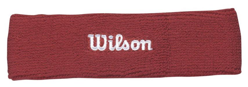 Повязка на голову Wilson Headband, цвет: красный. Размер универсальныйWR5600190Повязка на голову Wilson Headband выполнена из футера и украшена вышивкой Wilson. Полностью поглощает влагу, обеспечивая максимальный комфорт во время игры или тренировок.