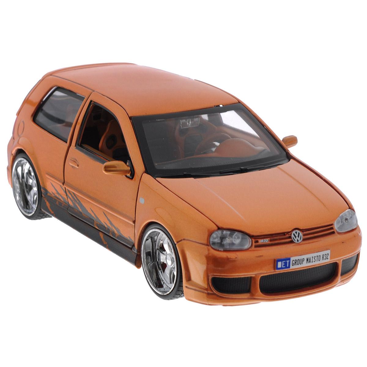 Maisto Модель автомобиля Volkswagen Golf R32 цвет оранжевый 31043