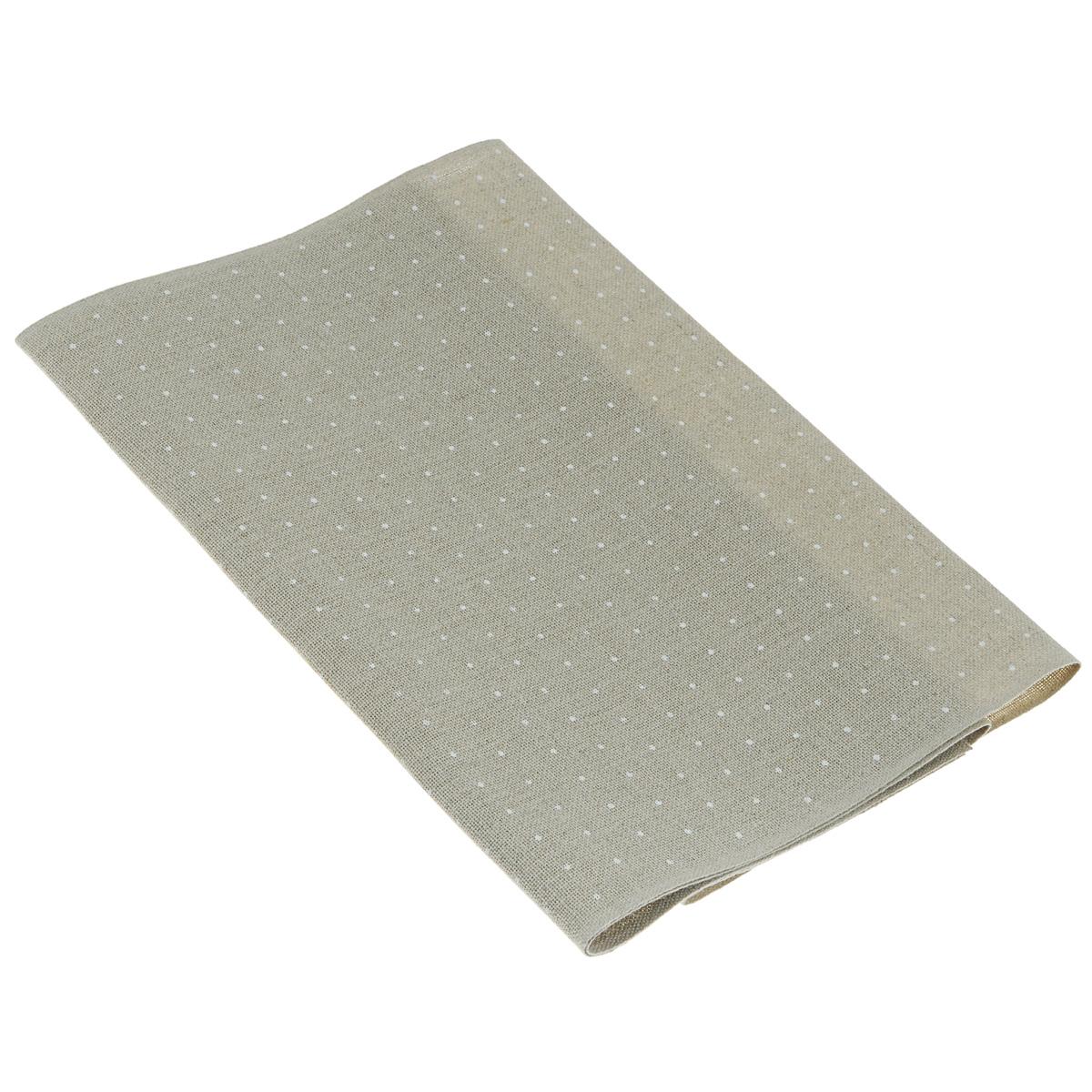 Основа для вышивания крестом или гладью Vaupel & Heilenbeck, с рисунком, цвет: льняной, белый, 30 см х 100 см. 5162-300-9019005162-300-901900Основа для вышивания крестом или гладью Vaupel & Heilenbeck представляет собой 11-ти ниточную дорожку, выполненную из 100% льна. Изделие декорировано принтом в горох. Воплотите свои идеи на этой основе для вышивания! Дорожка, украшенная своими руками, дополнит интерьер любого помещения, а также сможет стать изысканным подарком для ваших друзей и близких.