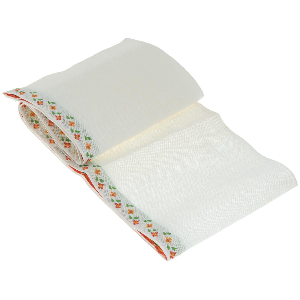 Основа для вышивания крестом или гладью Vaupel & Heilenbeck, с рисунком, цвет: белый, красный, зеленый, 17,5 см х 100 см2070-175-4Основа для вышивания крестом или гладью Vaupel & Heilenbeck представляет собой 11-ти ниточную дорожку, выполненную из 100% льна. По краю дорожка декорирована вышитыми мелкими цветочками. Воплотите свои идеи на этой основе для вышивания! Дорожка, украшенная своими руками, дополнит интерьер любого помещения, а также сможет стать изысканным подарком для ваших друзей и близких.