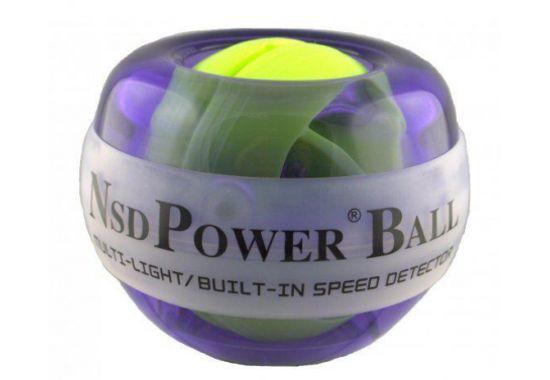 Тренажер кистевой NSD Power Powerball 250 Hz Multi Light, цвет: фиолетовыйPB-188 MLNSD Power Powerball 250 Hz Multi Light - это тренажер для людей, которые хотят не только натренировать кисть, но и сделать это с элементом игры. Тренажер имеет разноцветную светодиодную подсветку. Не оснащен счетчиком. Отлично подойдет как для юных спортсменов, так и для любителей необычных и функциональных гаджетов. Диаметр тренажера: 6,5 см.
