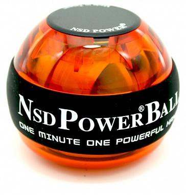 Тренажер кистевой NSD Power Powerball 250 Hz, цвет: оранжевыйPB-688 AmberКистевой тренажер NSD Power Powerball 250 Hz - новая базовая модель без счетчика и подсветки, изготовленная из более прочного материала с системой защиты ротора, предотвращающая его повреждение при падении шара на твердую поверхность. Прекрасно сбалансированный ротор тренажера может достигать скорости вращения до 15000 оборотов в минуту при этом, обеспечивая плавное и легкое вращение. Диаметр тренажера: 6,5 см.