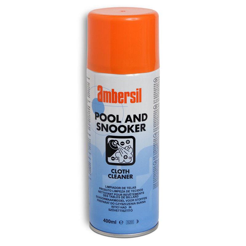 Средство для чистки сукна Ambersil Cloth Cleaner, 400 мл05587Аэрозольное чистящее средство Ambersil Cloth Cleaner предназначено для удаления мела и других легких загрязнений с бильярдного сукна. Не имеет в своем составе хлорсодержащих веществ, что означает, что оно не может повредить как само сукно, так и его цвет.