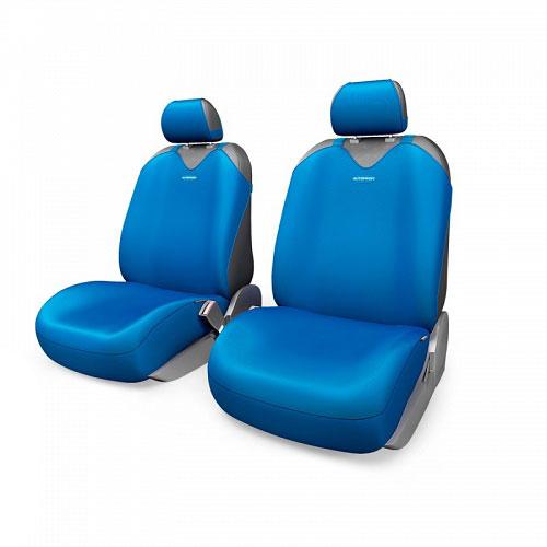Чехлы-майки Autoprofi R1 - Sport Plus, цвет: синий, 4 предметаR-402Pf BLЧехлы-майки Autoprofi R1 - Sport Plus выполнены в спортивном стиле, который придает салону яркие и динамичные черты. Широкая гамма расцветок чехлов позволяет подобрать их к любому автомобильному интерьеру. Эластичный полиэстер изделий плотно облегает поверхность кресел, не выцветает на солнце и не электризуется. Модель авточехлов-маек оснащена полностью закрытой нижней частью сидений, которая делает чехлы более практичными и износостойкими. Форма чехлов в виде маек позволяет легко и быстро надевать их на кресла любого типа, не прибегая к демонтажу подголовников и подлокотников. Комплектация: 2 чехла для кресел переднего ряда, 2 подголовника.