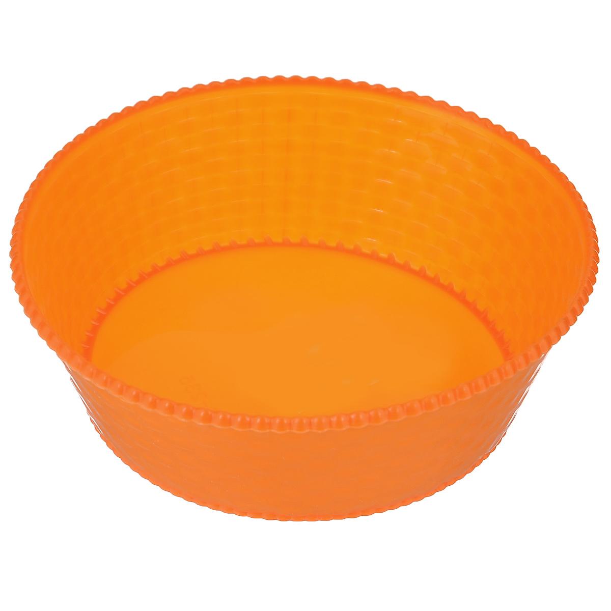 Корзинка для мелочей Sima-land, цвет: оранжевый, диаметр 15 см140358Круглая корзинка Sima-land, изготовленная из пластика, предназначена для хранения мелочей в ванной, на кухне, на даче. Легкая компактная корзина позволяет хранить мелкие вещи, исключая возможность их потери. Диаметр корзины: 15 см. Высота корзины: 4,5 см.