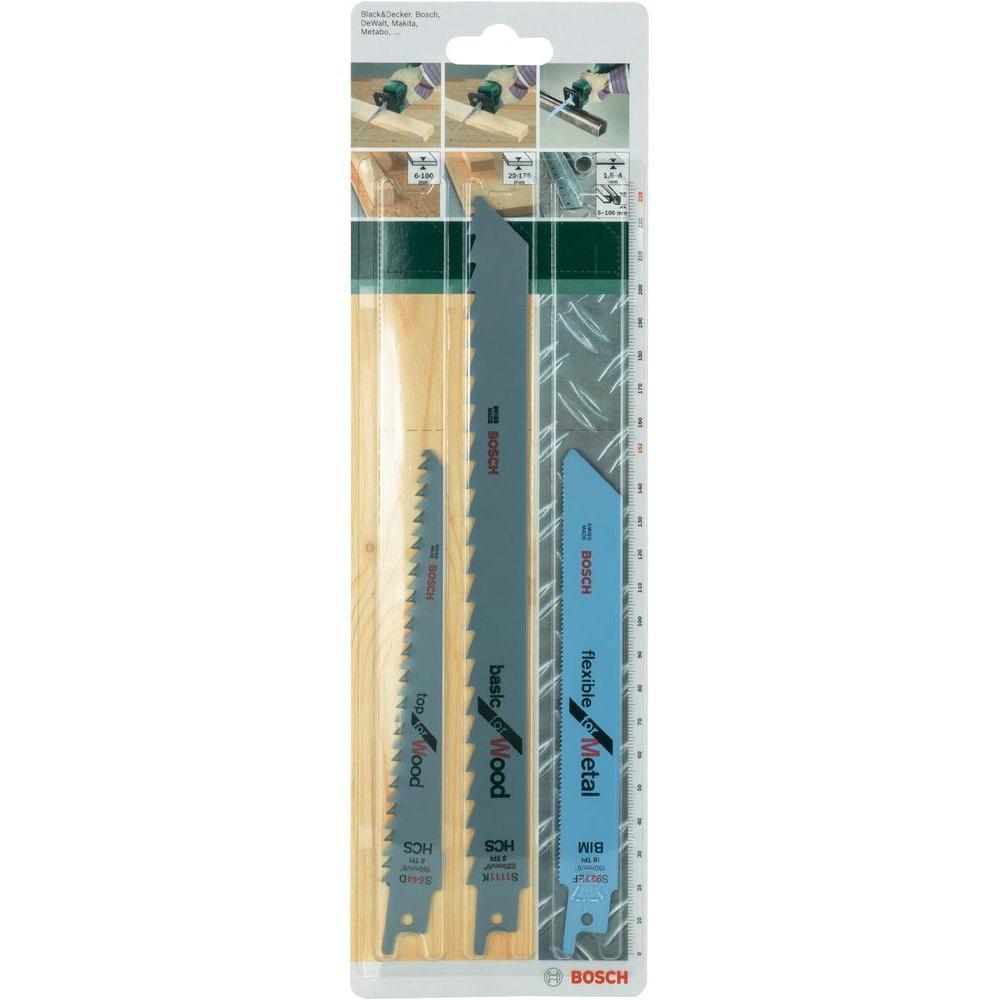 Пилки д/ножовки Bosch SET BIM 3 шт 26092567152609256715