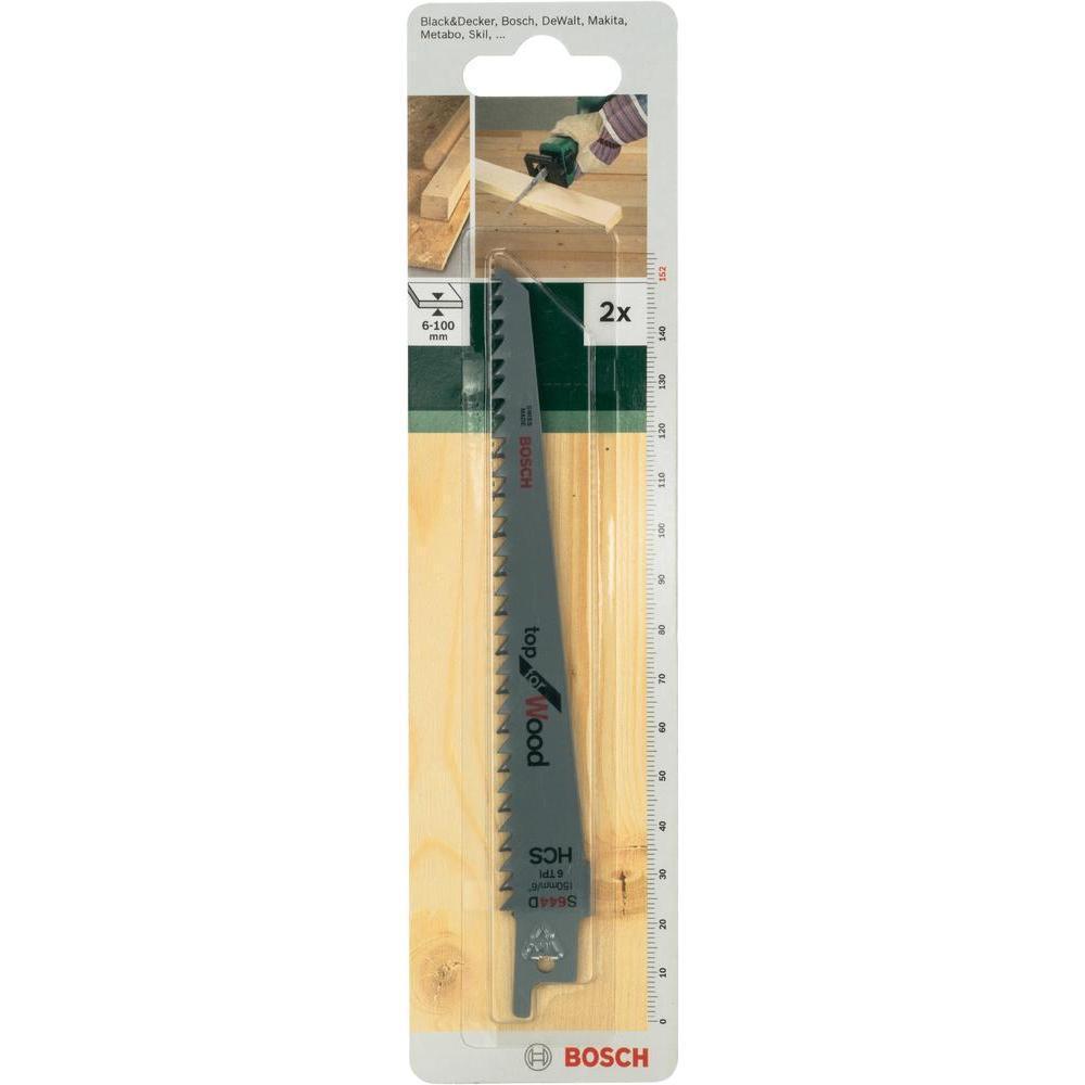 Пилки д/ножовки Bosch S644 D 2 шт 26092567012609256701