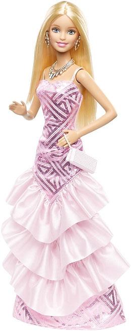 Barbie Кукла Барби в вечернем платье цвет платья светло-розовый
