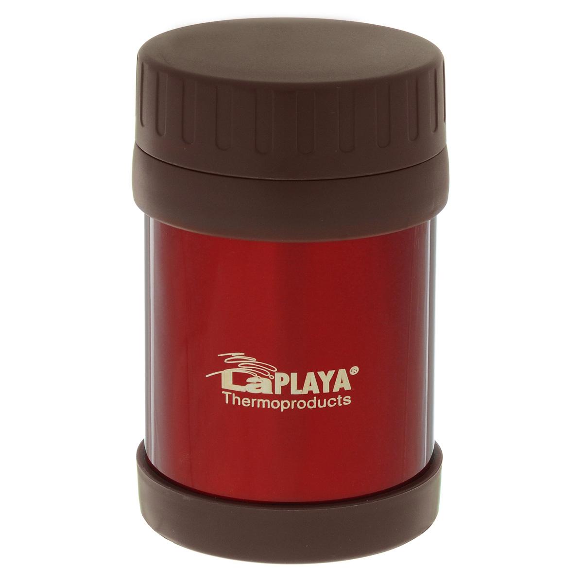 Термос для еды LaPlaya Food Container, цвет: красный, 350 мл560081Корпус термоса LaPlaya Food Container изготовлен из высококачественной нержавеющей стали с двумя стенками. Термос оснащен крышкой, благодаря которой сохраняется абсолютная герметичность. Изделие имеет большое горлышко, поэтому идеально подходит для салатов, закусок, первых и вторых блюд. Такой термос удобен в использовании и станет полезным подарком. Диаметр (по верхнему краю): 8 см. Диаметр основания: 8,5 см. Высота (с учетом крышки): 13,5 см.
