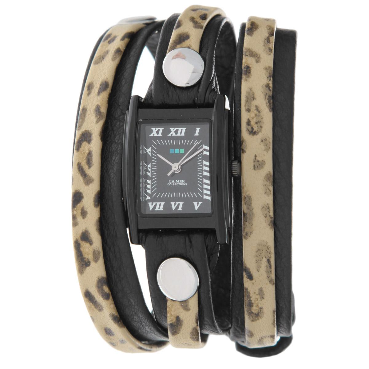 "Часы наручные женские La Mer Collections ""Layer Black Leopard"". LMLW1004 ( LMLW1004 )"