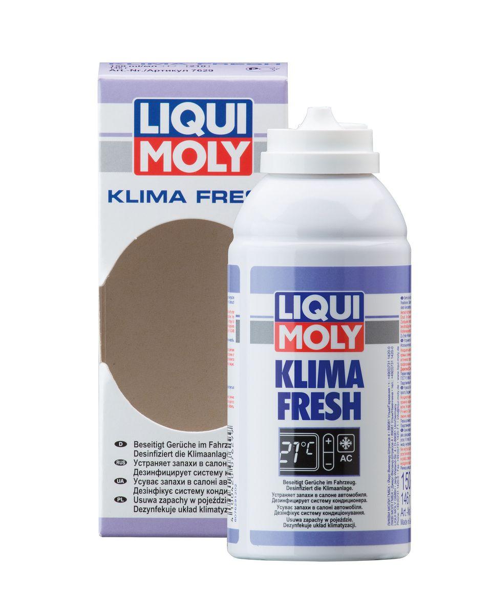 Освежитель кондиционера Liqui Moly Klima Fresh Plus, 150 мл7629Освежитель кондиционера Liqui Moly Klima Fresh Plus устраняет в течение самого короткого времени (примерно 10 минут) неприятные запахи, вызванные наличием бактериями и грибков в кондиционерах, каналах вентиляции или в воздуховодах автомобилей и очищает кондиционер. Используется просто, без демонтажа пылевого фильтра. Оставляет приятный свежий аромат. Предупреждает простудные и аллергические заболевания. Состав: Р-п-мента-1,8-диен, этанол, воду, этаноламин. Содержит охваченные Киотским протоколом фторированные парниковые газы; ГФУ-134а. Товар сертифицирован.