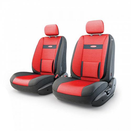 Авточехлы Autoprofi Трансформер Comfort, экокожа, цвет: черный, красный, 6 предметовTRS/COM-001G BK/RDЧехлы Autoprofi Трансформер Comfort - новая модель автомобильных чехлов. Главной особенностью их стала модульная конструкция, благодаря которой можно укомплектовать 5-, 7- или 8-местный автомобиль. Запатентованная конструкция чехлов с молниями и торцевыми клапанами позволит их адаптировать в автомобилях с любым кузовом - седана, минивена, кроссовера, внедорожника или универсала. При этом специальные клапаны закрывают торцы спинок и подлокотников, позволяя их складывать и обеспечивая плотное прилегание даже на нестандартных креслах. Немаловажно, что данная серия чехлов на автомобильное сиденье оснащена распускаемым боковым швом, что позволяет их использовать в автомобилях с боковой подушкой безопасности. Спинка и боковые части автомобильного чехла сделаны из экокожи. Из прежних наработок, полюбившихся автомобилистам, в данных чехлах сохранилось крепление крючками и липучками, которые прочно фиксируют чехлы на сиденье. Чехлы для переднего ряда серии Трансформер сочетаются со...