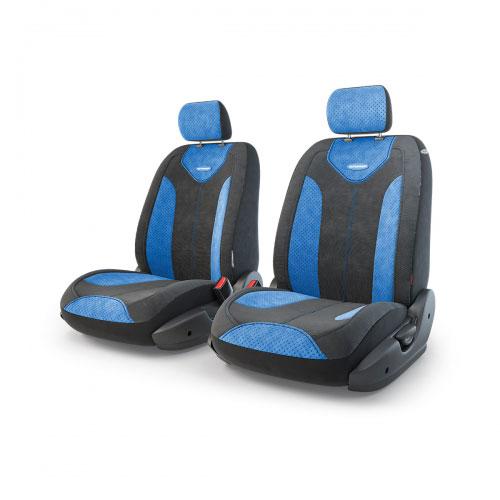 """Авточехлы Autoprofi """"Трансформер Matrix"""", велюр, цвет: черный, синий, 6 предметов TRS/MTX-001 BK/BL"""