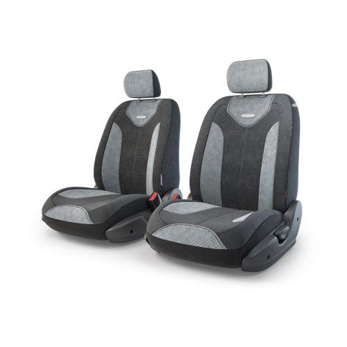 Авточехлы Autoprofi Трансформер Matrix, велюр, цвет: черный, серый, 6 предметовTRS/MTX-001 BK/D.GYЧехлы Autoprofi Трансформер Matrix - новая модель автомобильных чехлов. Главной особенность их стала модульная конструкция, благодаря которой можно укомплектовать 5-, 7- или 8-местный автомобиль. Запатентованная конструкция чехлов с молниями и торцевыми клапанами позволит их адаптировать в автомобилях с любым кузовом - седана, минивена, кроссовера, внедорожника или универсала. При этом специальные клапаны закрывают торцы спинок и подлокотников, позволяя их складывать и обеспечивая плотное прилегание даже на нестандартных креслах. Немаловажно, что данная серия чехлов на автомобильное сиденье оснащена распускаемым боковым швом, что позволяет их использовать в автомобилях с боковой подушкой безопасности. Из прежних наработок, полюбившихся автомобилистам, в серии авточехлов Трансформер сохранилось крепление крючками и липучками, которые прочно фиксируют чехлы на сиденье. Также здесь боковая поддержка и поясничный упор спины, с которыми любая дорога проходит...
