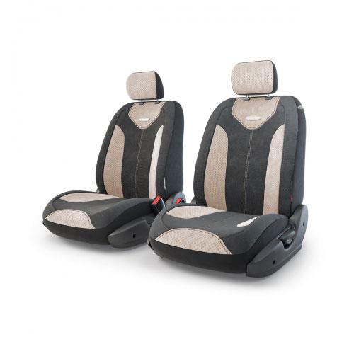 Авточехлы Autoprofi Трансформер Matrix, велюр, цвет: черный, бежевый, 6 предметовTRS/MTX-001 BK/L.BEЧехлы Autoprofi Трансформер Matrix - новая модель автомобильных чехлов. Главной особенность их стала модульная конструкция, благодаря которой можно укомплектовать 5-, 7- или 8-местный автомобиль. Запатентованная конструкция чехлов с молниями и торцевыми клапанами позволит их адаптировать в автомобилях с любым кузовом - седана, минивена, кроссовера, внедорожника или универсала. При этом специальные клапаны закрывают торцы спинок и подлокотников, позволяя их складывать и обеспечивая плотное прилегание даже на нестандартных креслах. Немаловажно, что данная серия чехлов на автомобильное сиденье оснащена распускаемым боковым швом, что позволяет их использовать в автомобилях с боковой подушкой безопасности. Из прежних наработок, полюбившихся автомобилистам, в серии авточехлов Трансформер сохранилось крепление крючками и липучками, которые прочно фиксируют чехлы на сиденье. Также здесь боковая поддержка и поясничный упор спины, с которыми любая дорога проходит...