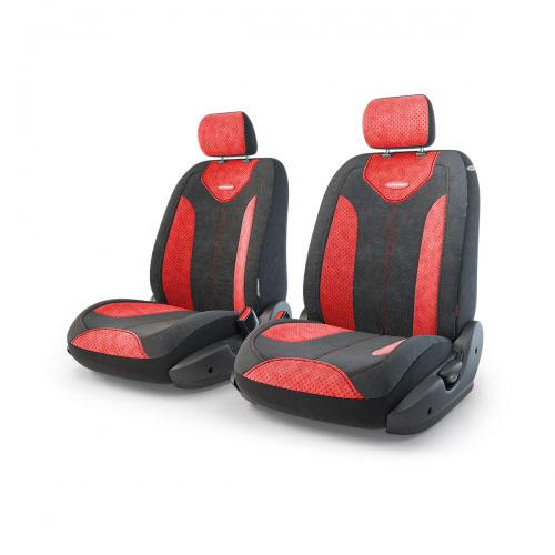 Авточехлы Autoprofi Трансформер Matrix, велюр, цвет: черный, красный, 6 предметовTRS/MTX-001 BK/RDЧехлы Autoprofi Трансформер Matrix - новая модель автомобильных чехлов. Главной особенность их стала модульная конструкция, благодаря которой можно укомплектовать 5-, 7- или 8-местный автомобиль. Запатентованная конструкция чехлов с молниями и торцевыми клапанами позволит их адаптировать в автомобилях с любым кузовом - седана, минивена, кроссовера, внедорожника или универсала. При этом специальные клапаны закрывают торцы спинок и подлокотников, позволяя их складывать и обеспечивая плотное прилегание даже на нестандартных креслах. Немаловажно, что данная серия чехлов на автомобильное сиденье оснащена распускаемым боковым швом, что позволяет их использовать в автомобилях с боковой подушкой безопасности. Из прежних наработок, полюбившихся автомобилистам, в серии авточехлов Трансформер сохранилось крепление крючками и липучками, которые прочно фиксируют чехлы на сиденье. Также здесь боковая поддержка и поясничный упор спины, с которыми любая дорога проходит...