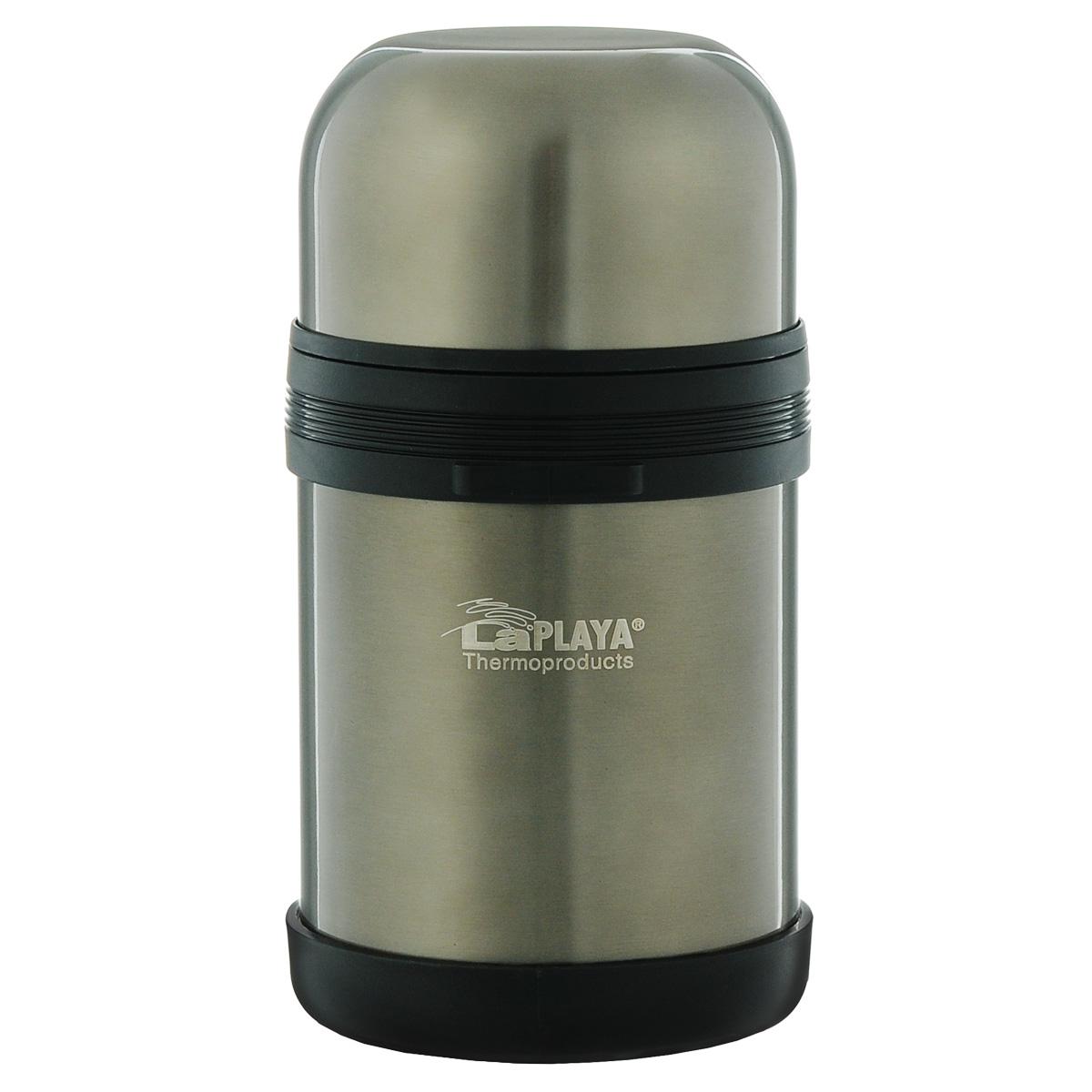 Термос LaPlaya Traditional, цвет: бежевый, 800 мл560044Термос LaPlaya Traditional оснащен двойными стенками с вакуумной изоляцией, которая позволяет сохранять напитки горячими и холодными длительное время. Легкий небьющийся корпус изготовлен из высококачественной нержавеющей стали. Широкая герметичная комбинированная пробка позволяет использовать термос для первых и вторых блюд при полном открывании и для напитков - при вывинчивании внутренней части. Изделие оснащено дополнительной пластиковой чашкой. Откидная ручка и съемный ремень позволяют удобно переносить термос. Термос LaPlaya Traditional идеален для вторых блюд, супов и напитков. Диаметр горлышка: 7,5 см. Высота термоса: 20 см.