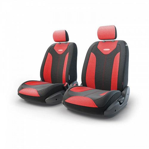 Авточехлы Autoprofi Трансформер Matrix, экокожа, цвет: черный, красный, 6 предметовTRS/MTX-001G BK/RDЧехлы Autoprofi Трансформер Matrix - новая модель автомобильных чехлов. Главной особенность их стала модульная конструкция, благодаря которой можно укомплектовать 5-, 7- или 8-местный автомобиль. Запатентованная конструкция чехлов с молниями и торцевыми клапанами позволит их адаптировать в автомобилях с любым кузовом - седана, минивена, кроссовера, внедорожника или универсала. При этом специальные клапаны закрывают торцы спинок и подлокотников, позволяя их складывать и обеспечивая плотное прилегание даже на нестандартных креслах. Немаловажно, что данная серия чехлов на автомобильное сиденье оснащена распускаемым боковым швом, что позволяет их использовать в автомобилях с боковой подушкой безопасности. Из прежних наработок, полюбившихся автомобилистам, в серии авточехлов Трансформер сохранилось крепление крючками и липучками, которые прочно фиксируют чехлы на сиденье. Также здесь боковая поддержка и поясничный упор спины, с которыми любая дорога проходит быстрее. Спинка и...