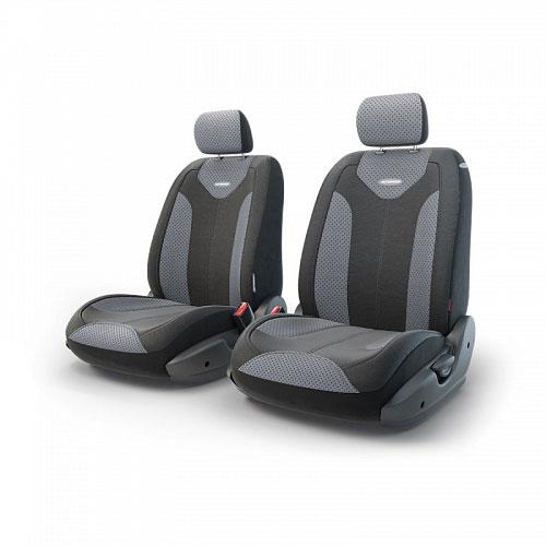 Авточехлы Autoprofi Трансформер Matrix, экокожа, цвет: черный, серый, 6 предметов