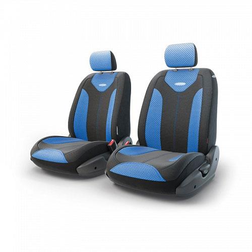Авточехлы Autoprofi Трансформер Matrix, экокожа, цвет: черный, синий, 6 предметовTRS/MTX-001G BK/BLЧехлы Autoprofi Трансформер Matrix - новая модель автомобильных чехлов. Главной особенность их стала модульная конструкция, благодаря которой можно укомплектовать 5-, 7- или 8-местный автомобиль. Запатентованная конструкция чехлов с молниями и торцевыми клапанами позволит их адаптировать в автомобилях с любым кузовом - седана, минивена, кроссовера, внедорожника или универсала. При этом специальные клапаны закрывают торцы спинок и подлокотников, позволяя их складывать и обеспечивая плотное прилегание даже на нестандартных креслах. Немаловажно, что данная серия чехлов на автомобильное сиденье оснащена распускаемым боковым швом, что позволяет их использовать в автомобилях с боковой подушкой безопасности. Из прежних наработок, полюбившихся автомобилистам, в серии авточехлов Трансформер сохранилось крепление крючками и липучками, которые прочно фиксируют чехлы на сиденье. Также здесь боковая поддержка и поясничный упор спины, с которыми любая дорога проходит быстрее. Спинка и...