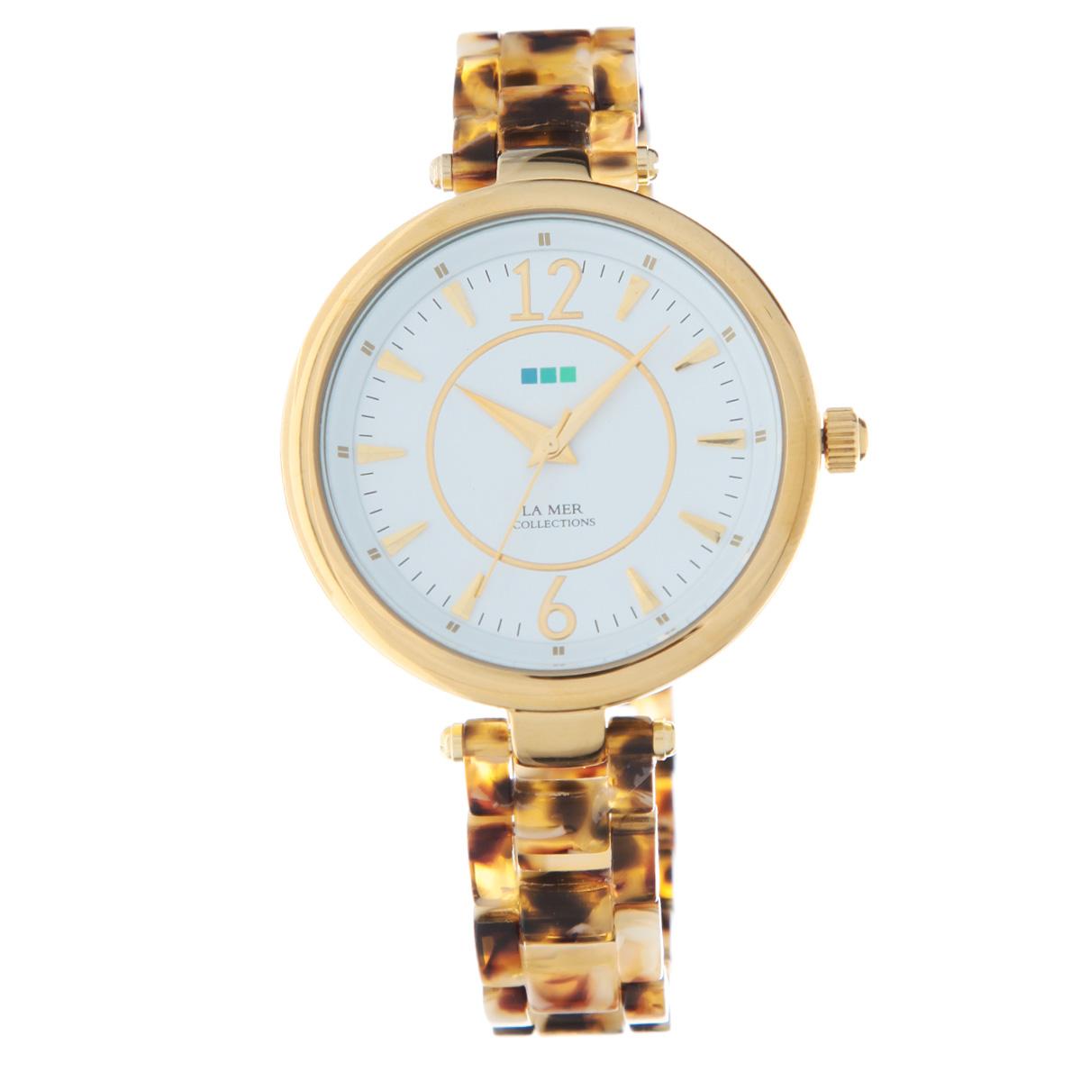 "Часы наручные женские La Mer Collections ""Gold Tortoise White Dial"". LMSICILY001 ( LMSICILY001 )"