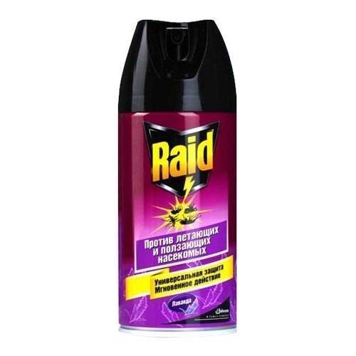 """Аэрозоль от ползающих и летающих насекомых Raid """"Лаванда"""", 300 мл 609829"""