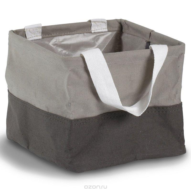 Сумка-органайзер Umbra Crunch, большая, цвет: серый088110-918Сумка-органайзер Umbra Crunch выполнена из 100% хлопка со специальной пропиткой и ламинированной отделкой, поэтому не пропускает воду. Две ручки по бокам для удобства переноски с места на место. Беспорядок преследует нас ежедневно, то одна вещь потеряется из виду, то другая затеряется где-то в шкафах… Чтобы все хозяйственные принадлежности были на месте, храните их в сумке-органайзере! В ванной она вместит шампуни, гели для душа, расчески и крема, в шкафу - моющие средства, порошки и щетки, на рабочем столе - книги, канцелярские принадлежности, бумаги, счета и много других самых разнообразных вещей. Также очень удобна для хранения детских игрушек! Множество применений в самых разных уголках дома!