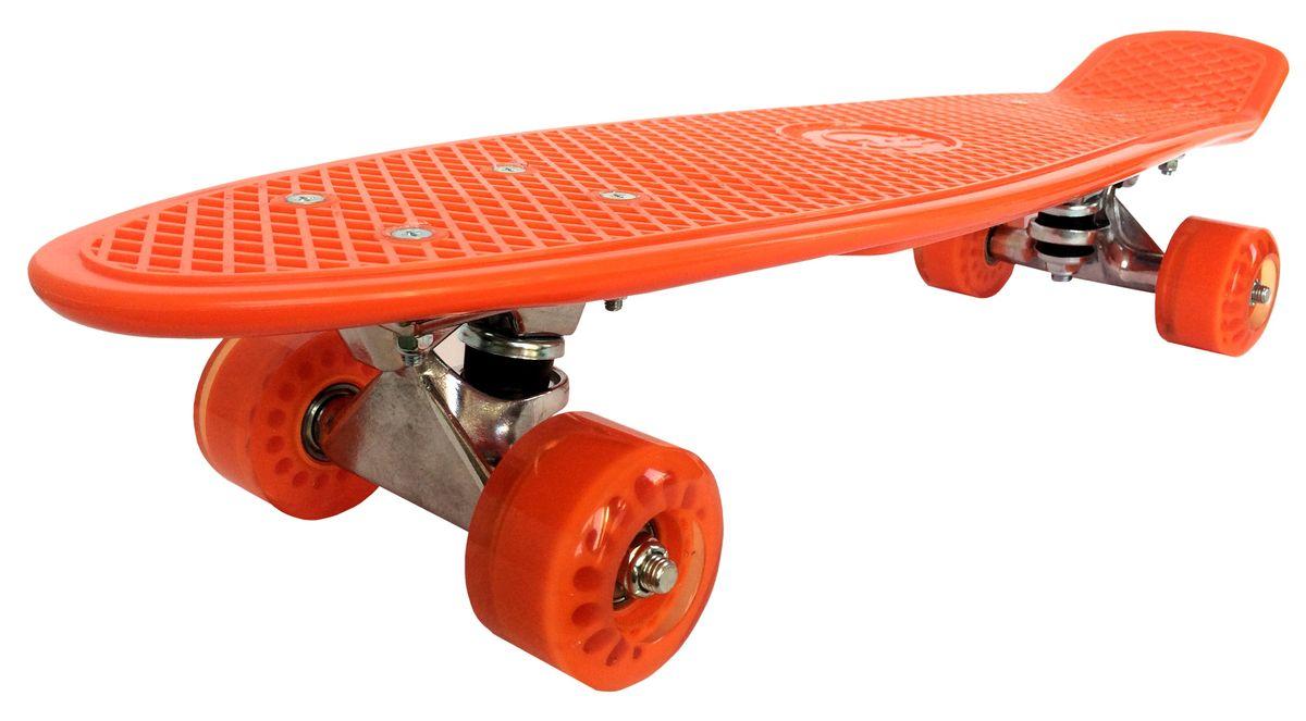 Скейтборд Tiny Orange, цвет: оранжевый, дека 56,5 см х 15 смASE-Tiny OrangeСкейтборд Tiny Orange - уникальное средство передвижения по городу и отличный способ заявить о себе в скейтпарке. Сочетая в себе компактность, комфорт и отличную управляемость, является отличным способом времяпрепровождения и приобщения к спорту круга лиц всех возрастов. За счет своих размеров и веса модель очень удобна для переноски. Дека выполнена из нескользящего пластика, колеса - из полиуретана.