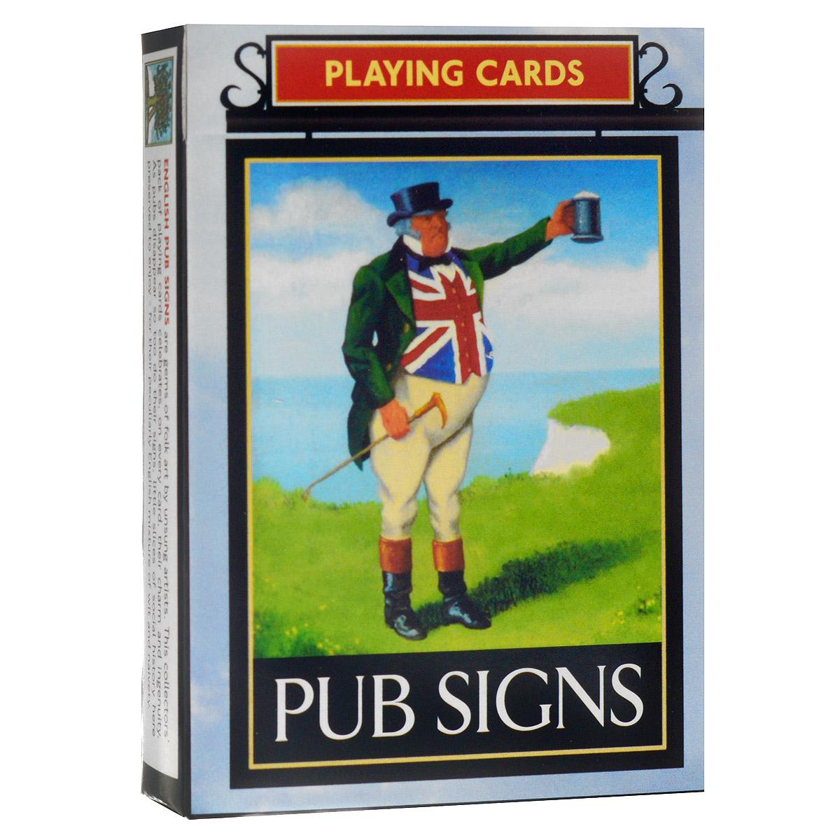 Карты игральные коллекционные Piatnik Старинные эмблемы английских пабов, цвет: белый, 55 карт. 13551355
