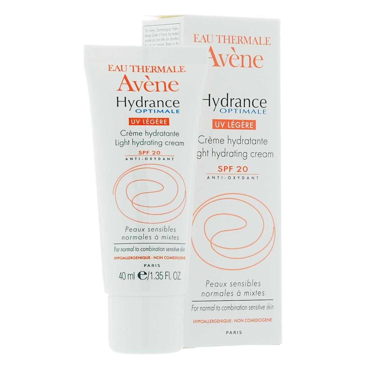 Avene Крем увлажняющий защищающий Hydrance ОПТИМАЛЬ UV20 ЛЕЖЕР для нормальной и смешанной кожи лица 40 мл