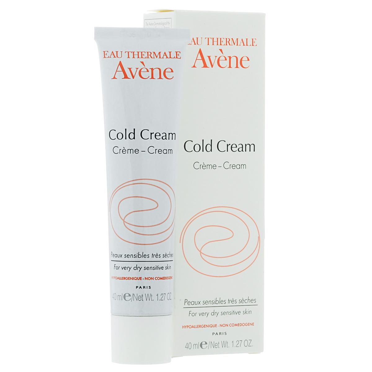 Avene Крем Cold-cream для лица 40 млC00273Интенсивно питает кожу, смягчает, защищает. Конституционально сухая и очень сухая кожа, сухость кожи вследствие дерматологических заболеваний, сухость кожи в пожилом возрасте. экспертизадерматологической маркиAvene №1 во Франции