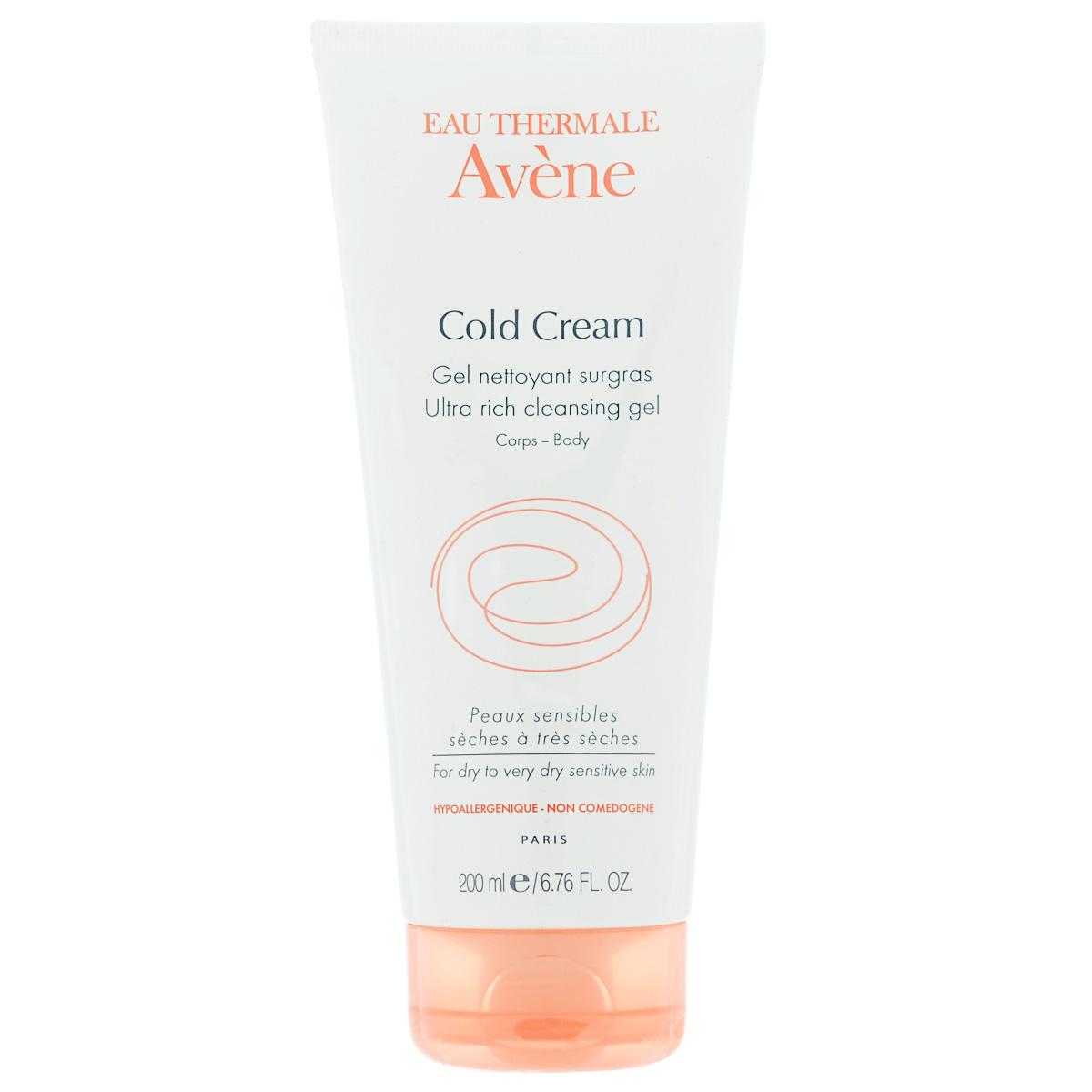 Avene Очищающий сверхпитательный гель Cold-cream для лица и тела 200 мл avene эмульсия для тела с колд кремом  400 мл