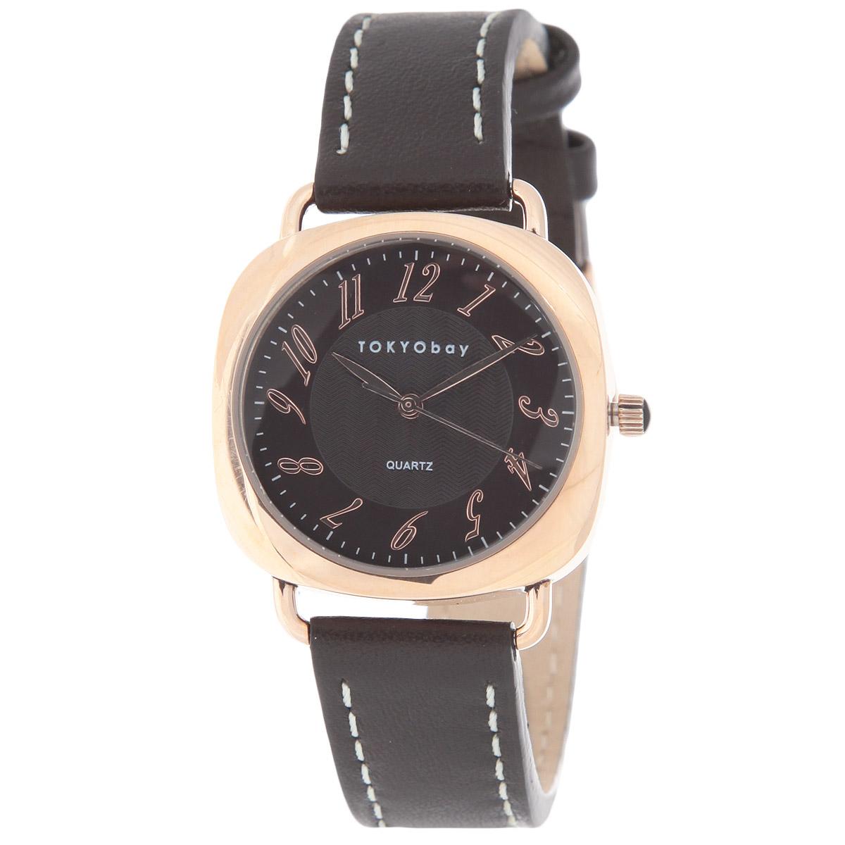Часы унисекс наручные Tokyobay Legend Brown Rose Gold. T249-BRT249-BRНаручные часы Tokyobay Legend - это стильное дополнение к вашему неповторимому образу. Эти часы созданы для современных мужчин и женщин, ценящих стиль, качество и практичность. Часы оснащены японским кварцевым механизмом Miyota. Корпус выполнен из сплава металлов с зеркальной полировкой, не содержащего никель. Задняя крышка изготовлена из нержавеющей стали. Циферблат оформлен арабскими цифрами, имеет три стрелки - часовую, минутную и секундную. Циферблат защищен ударопрочным оптическим пластиком. Ремешок, выполненный из натуральной кожи, оформлен контрастной отстрочкой. Застегивается ремешок на классическую застежку. Часы Tokyobay - это практичный и модный аксессуар, который подчеркнет ваш безупречный вкус. Характеристики: Корпус: 3,2 х 3,2 х 0,8 см. Не содержит никель. Не водостойкие.