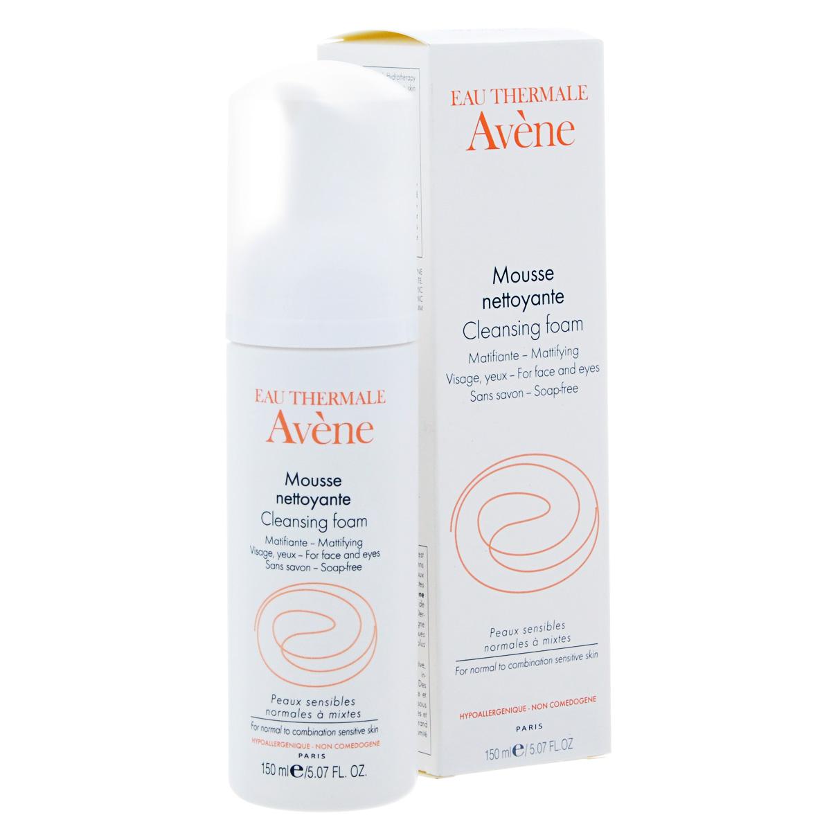 Avene Очищающая пенка Sensibles для лица и области вокруг глаз 150 млC35065Ежедневное очищение нормальной и комбинированной чувствительной кожи. Блеск кожи лба, носа, области подбородка, тусклый цвет лица, расширенные поры. Разработано специально для нормальной и комбинированной кожи. Очищающая пенка удаляет макияж, загрязнения и излишки кожного сала. Пенка легко смывается, оставляя на коже ощущение свежести.